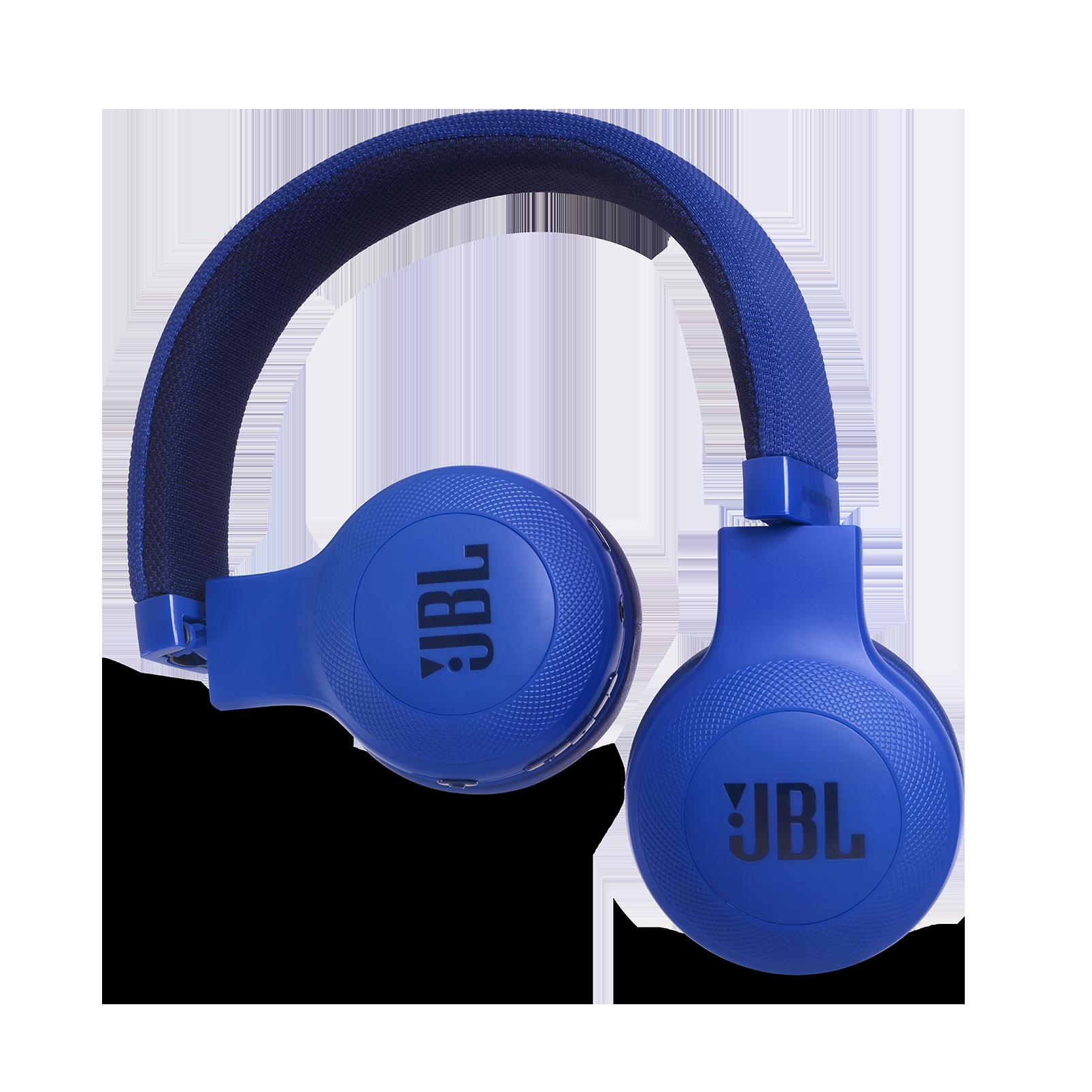 JBL E45BT - Blue - Wireless on-ear headphones - Detailshot 1